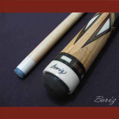 Boriz Billiards Linen Grip Pool Cue Stick Original Inlay