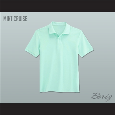 men 39 s solid color mint cruise polo shirt