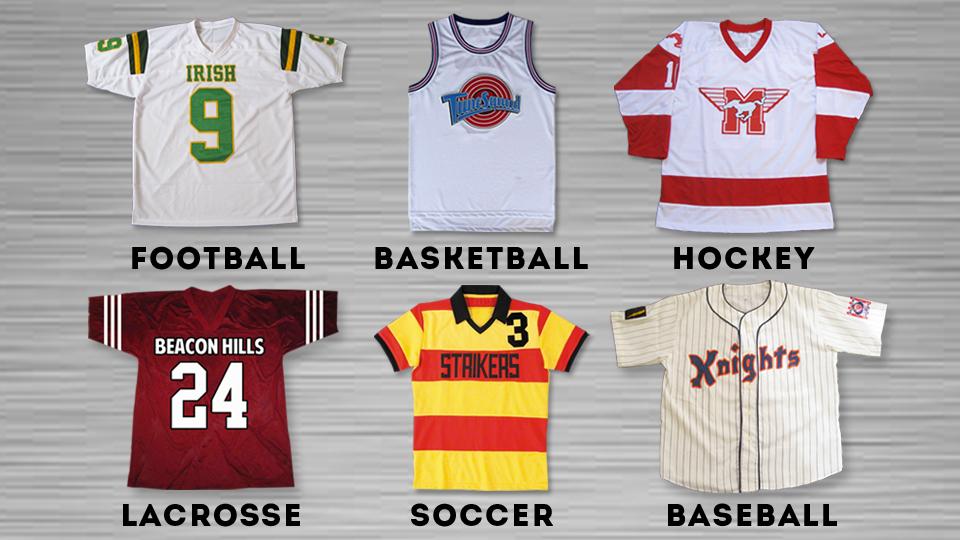 Movie Sports Jerseys - Personalized Jerseys - Online Sports Store